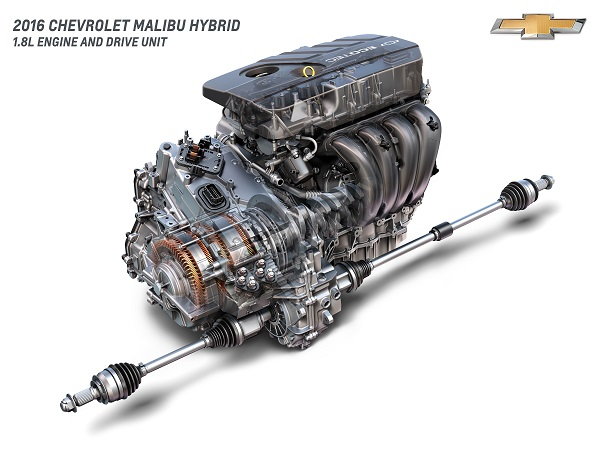 2016 Chevrolet Malibu Hybrid 1.8L Engine und Drive Unit