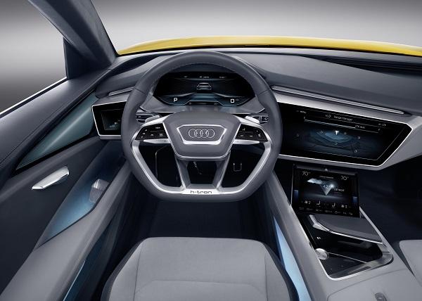 Cockpit des Audi h-tron quattro
