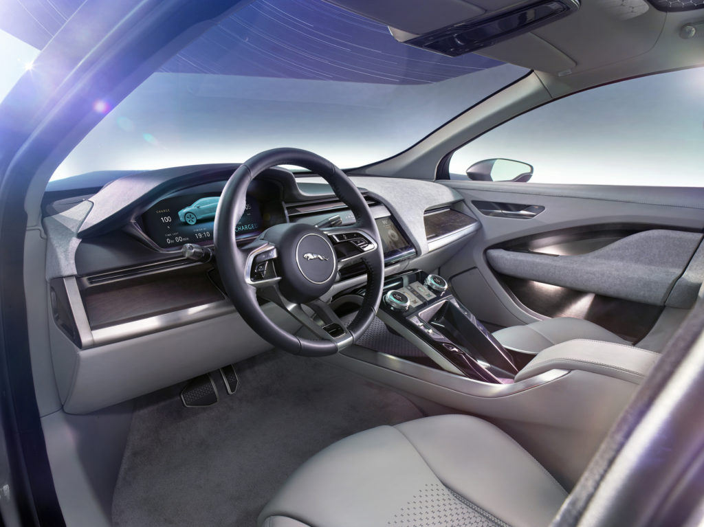 Interior view of the I-Pace
