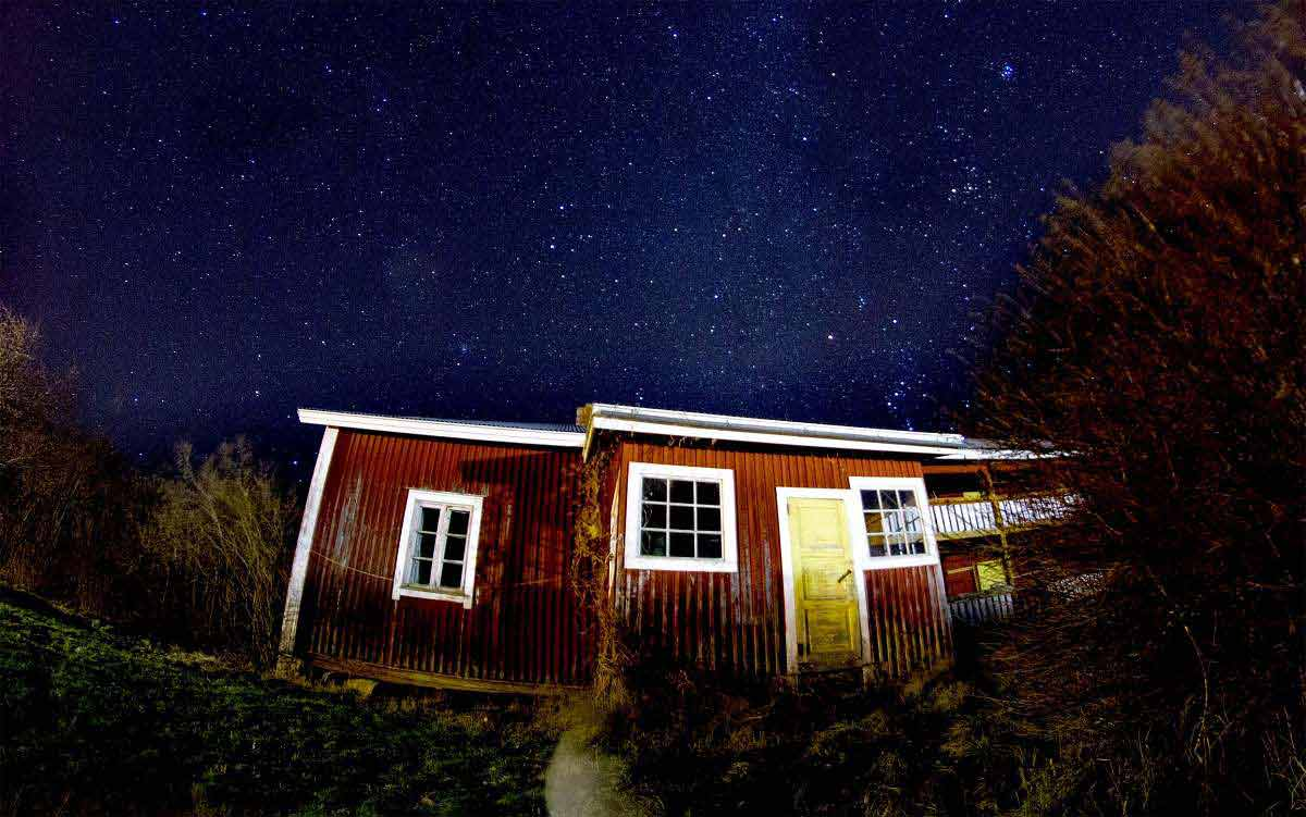 Finnland bei Nacht