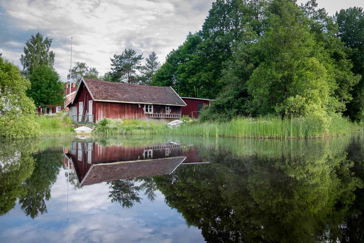 Schweden Hütte am See