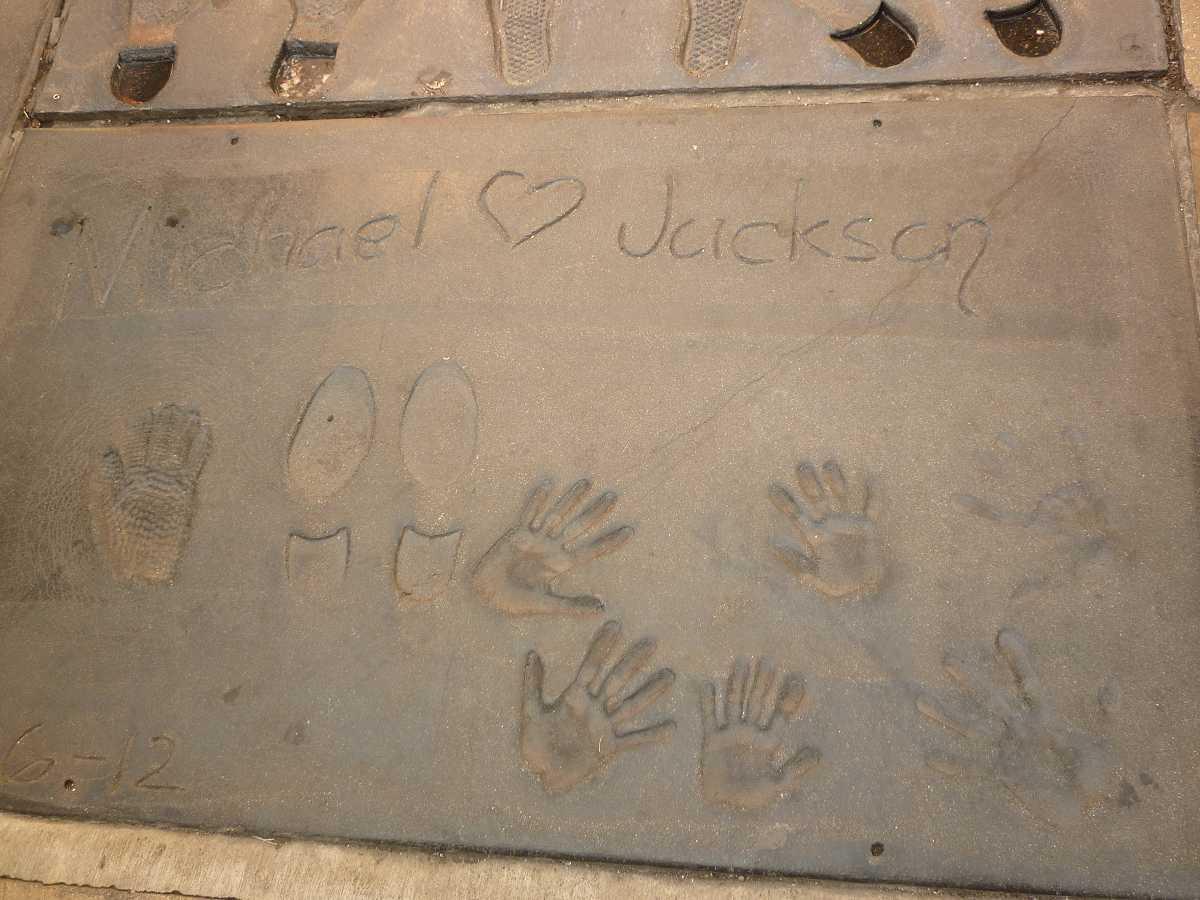 Hand- und Fußabdruck von Michael Jackson