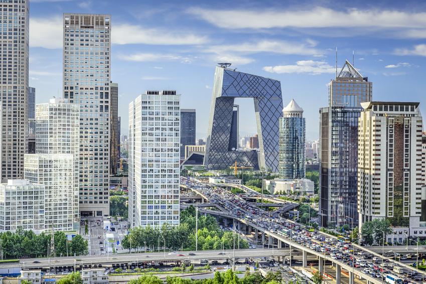 Beijing, China Financial District Skyline