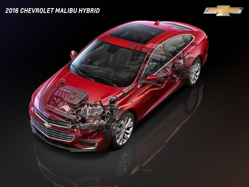 2016 Chevrolet Malibu Hybrid mit Chevrolet Volt Technologie