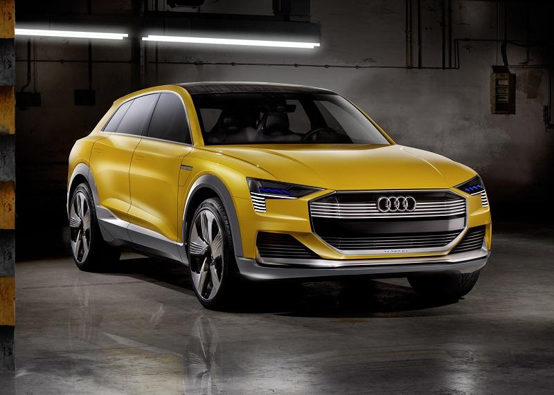 Der SUV Audi h-tron quattro nutzt Wasserstoff als Antrieb