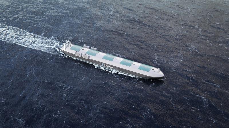 Rolls-Royce autonome Frachtschiffe