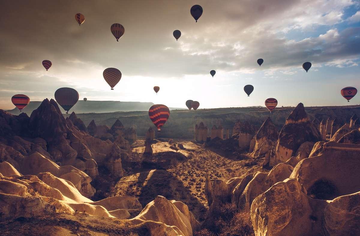 Heißluftballons in Kappadokien, Türkei